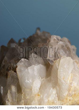 Quartz crystals macro.