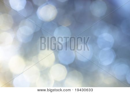 blue white christmas illumination off focus background