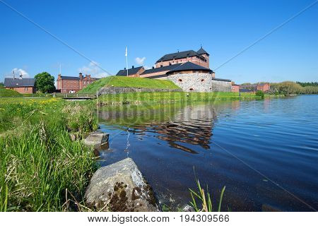 A sunny June day at the ancient fortress of the city of Hameenlinna. Finland