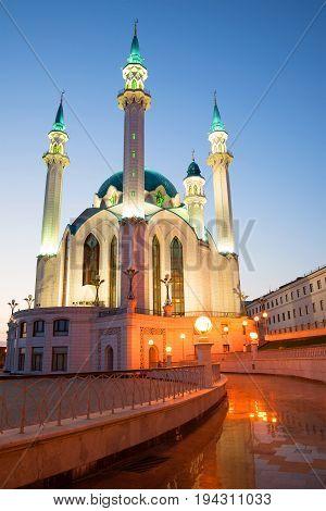 May twilight at the Kul-Sharif mosque. Kazan, Russia