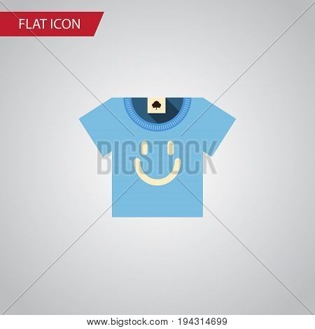 Isolated T-Shirt Flat Icon. Blouse Vector Element Can Be Used For Shirt, Blouse, Clothes Design Concept.