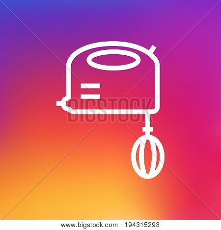 Isolated Blender Outline Symbol On Clean Background. Vector Mixer Element In Trendy Style.