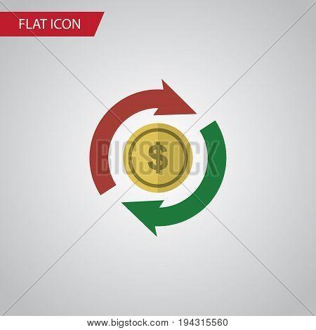Isolated Exchange Flat Icon. Interchange Vector Element Can Be Used For Interchange, Swap, Exchange Design Concept.