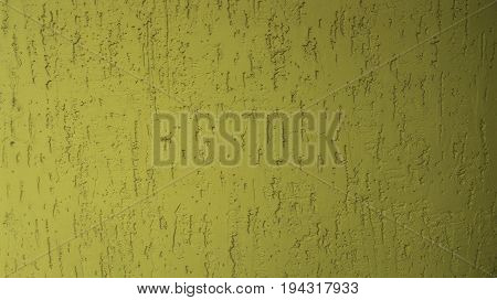 Yellow Putty On The Wall Is Depicted