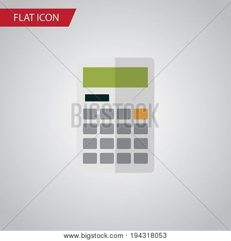 Isolated Calculator Flat Icon. Calculate Vector Element Can Be Used For Calculator, Calculate, Finance Design Concept.