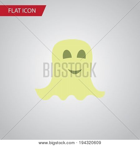 Isolated Specter Flat Icon. Spirit Vector Element Can Be Used For Spirit, Specter, Ghost Design Concept.