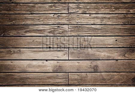 Grungy wooden paneling or flooring.