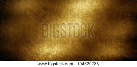 grunge golden metal plate background