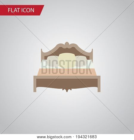 Isolated Mattress Flat Icon. Bedroom Vector Element Can Be Used For Mattress, Bed, Bedroom Design Concept.
