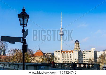 Tv tower or Fersehturm in Berlin,Germany