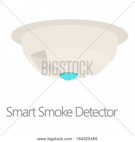 Smart smoke detector icon. Cartoon illustration of smart smoke detector vector icon for web isolated on white background