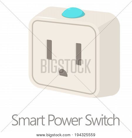 Smart power switch icon. Cartoon illustration of smart power switch vector icon for web isolated on white background
