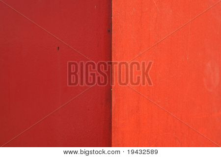 Red wall in light and shadow