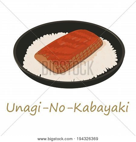 Unagi kabayaki icon. Cartoon illustration of unagi kabayaki vector icon for web isolated on white background