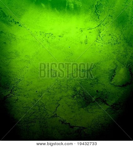 Grungy green abstract