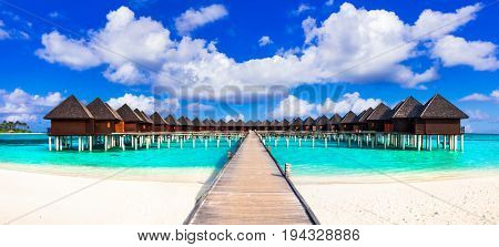 Maldives island, luxury tropical holidays in water villas