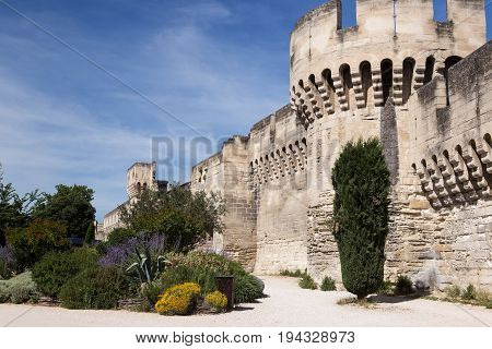 A section of the Avignon City Wall Ramparts