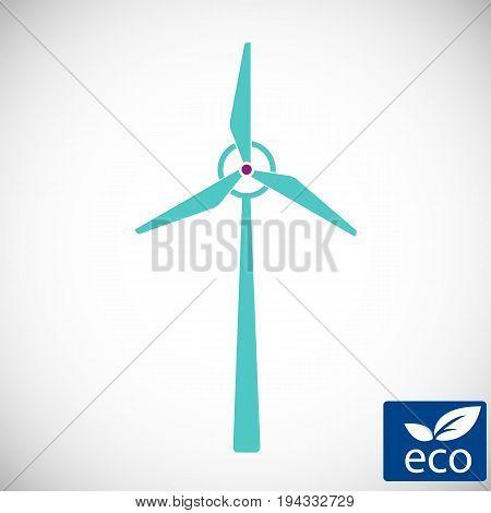 alternative energy power, wind electricity turbine windmill icon, technology of renewable windmill station vector illustratin