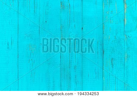 Photo of blue wooden texture, board vertically