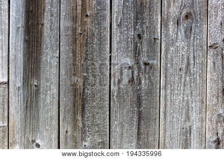 Old rustic wooden wall with boards and cracked paint