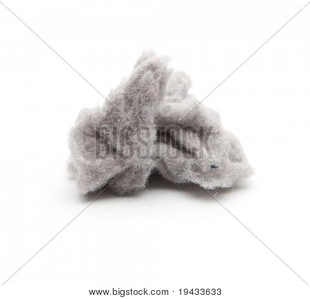 A clump of common house dust. High magnification macro. poster