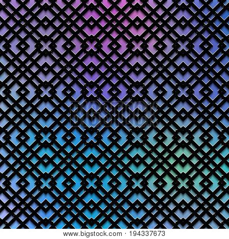Holography background. Retro backdrop. Polychromatic graphic. Avant-garde print. Vintage wallpaper. Abstract illustration. Graphic ornament. Hipster art. Futuristic  design. Geometry pattern. Vector.