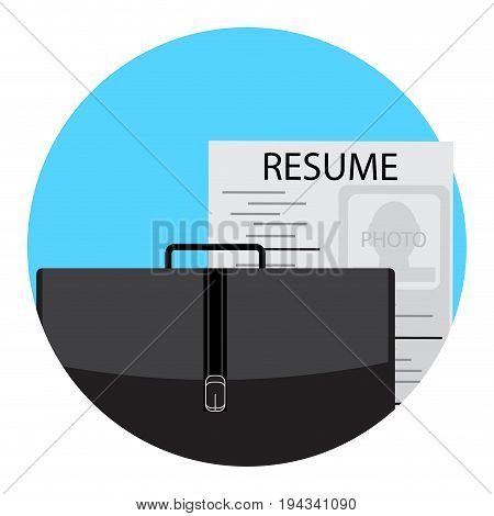 Unemployment icon flat. Hiring resource man vector illustration