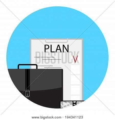 Planning to-do list icon. Checklist and post it schedule and agenda vector illustration