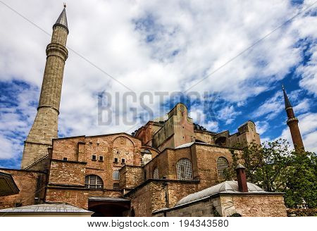 Istanbul, Turkey - May 7, 2017: Hagia Sophia is the greatest monument of Byzantine Culture.