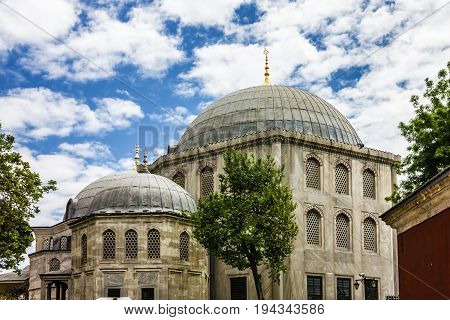 Byzantine architecture of the Saint Irina church, Istanbul, Turkey