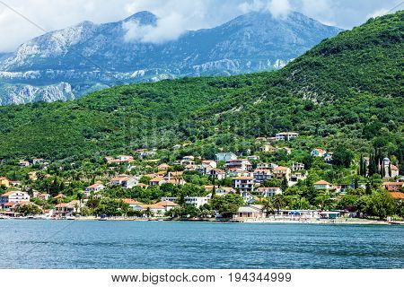 Kotor bay sea view mountain landscape, Montenegro
