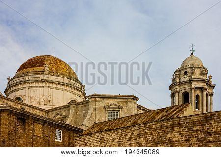 Cadiz town, Spain. Cupola of Cathedral church.