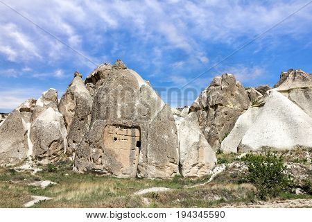 Goreme national park. Volcanic rock landscape, Cappadocia, Turkey.