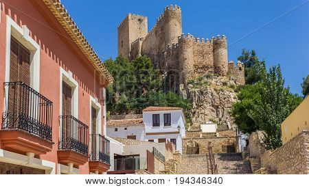 Castle On The Hilltop Above Almansa