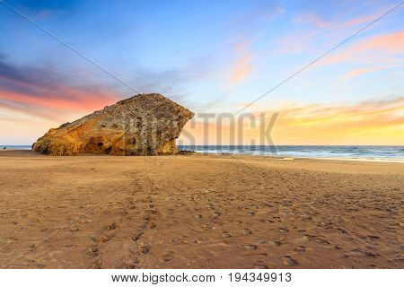 Monsul beach Cabo de Gata natural park Almeria Spain