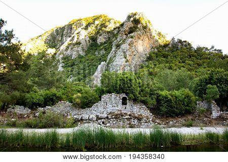 Olympos Antique City Ruins In Antalya