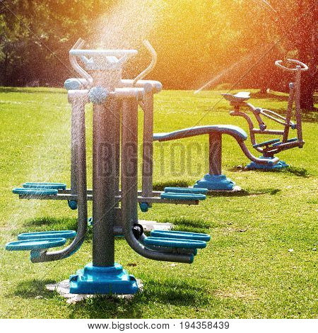 Fitness Outdoors In Summertime Nature