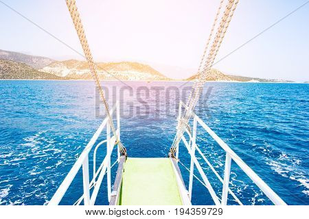 Sea Water From A Yacht Stern
