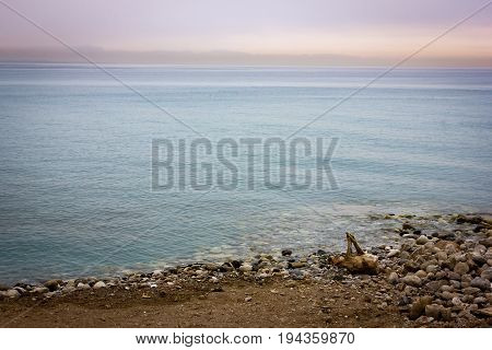 Tranquil Nature Background With Pebbles