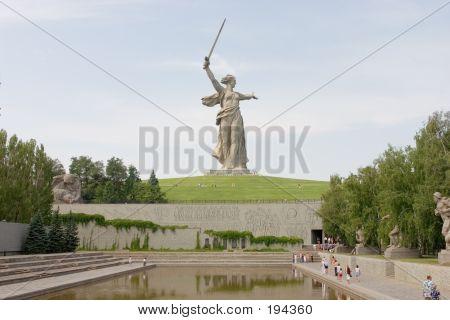 World War Ii Memorial In Volgograd Russia