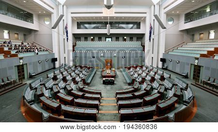 CANBERRA AUSTRALIA, 3 May 2017:  House of Repratentatives at Australia's Parliament House
