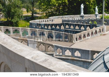 Detail Of The Architecture Of The Basilica Of The Sanctuary Of Lourdes