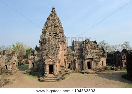 Phanom Rung, Thailand - 1 February 2012: Phanom Rung hindu temple on Thailand