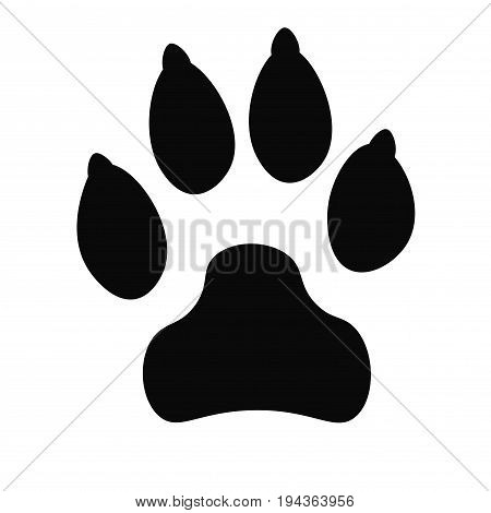 Dog track black icon, logo, silhouette isolated on white background. Vector illustration.
