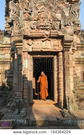 Phanom Rung Hindu Temple On Thailand