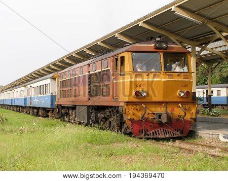Alsthom Locomotive No4411 For Train No14.