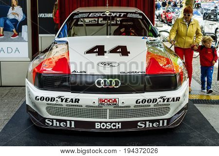 BERLIN - JUNE 17 2017: Race car Audi 200 Quattro Trans-Am 1988. Classic Days Berlin 2017.