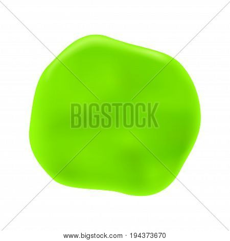 illustration of green chewed gum isolated on white background