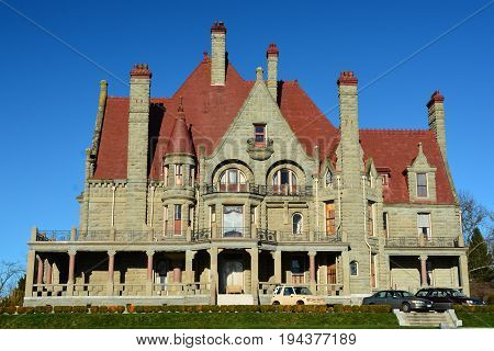 Victoria BC,Canada,January 29th 2015. Craigdarroch castle in Victoria BC,is a fine example of Victorian architecture.Come on in an nose around for awhile.