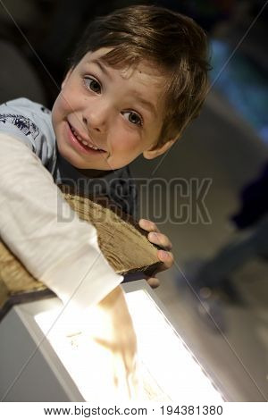 Child Playing With Light